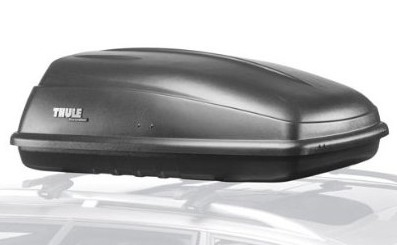 Side view of Thule Excursion car top box